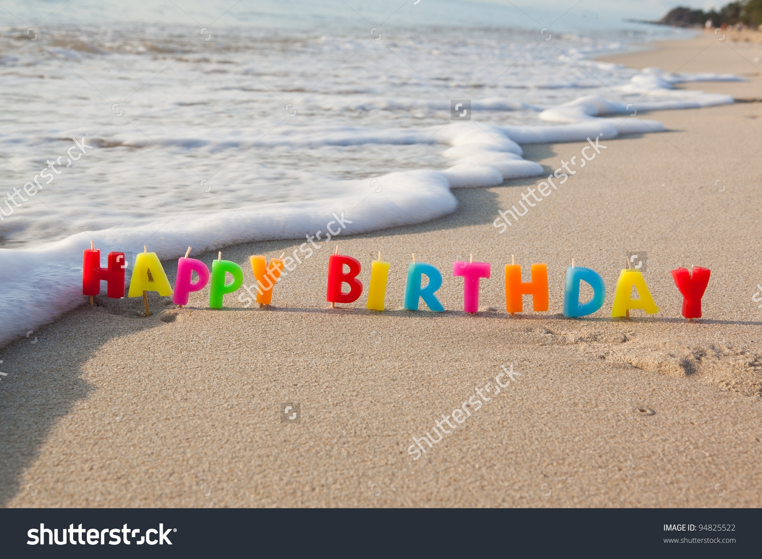 Happy Birthday Beach Clipart.