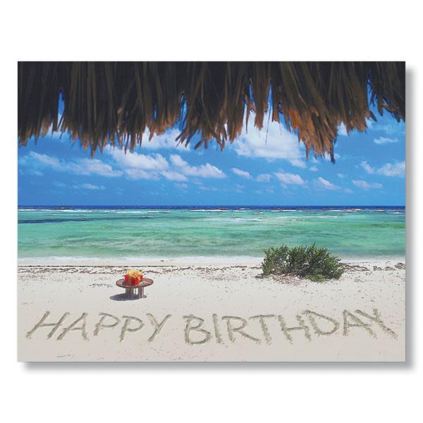 Happy birthday at the beach.