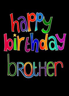 Happy Birthday Brother Clipart.