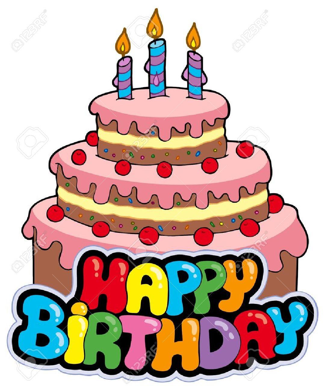 Happy birthday cake clipart 4 » Clipart Station.