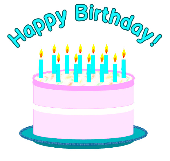 Free clipart of birthday cake.