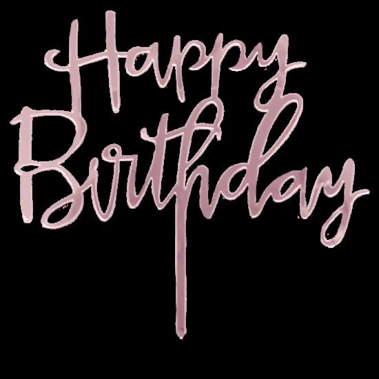 Happy Birthday Acrylic Cake Topper.