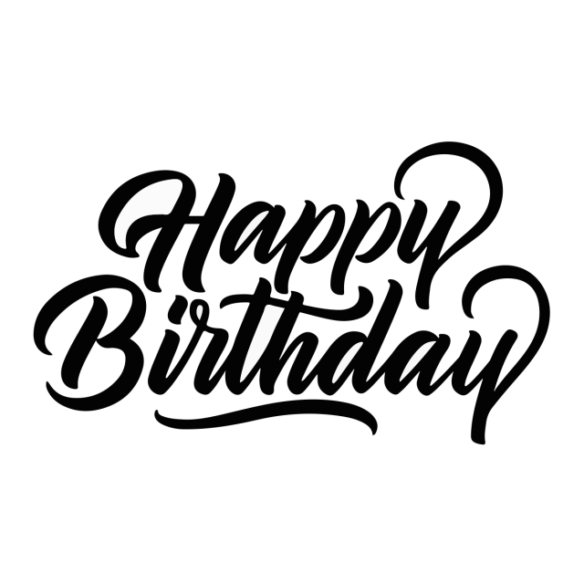 Happy Birthday, Happy, Birthday, Calligraphy PNG and Vector with.