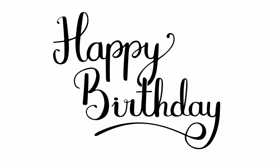 Happy Birthday Calligraphy Png Transparent Image.