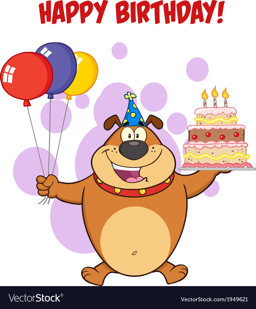 Happy birthday dog cartoon.