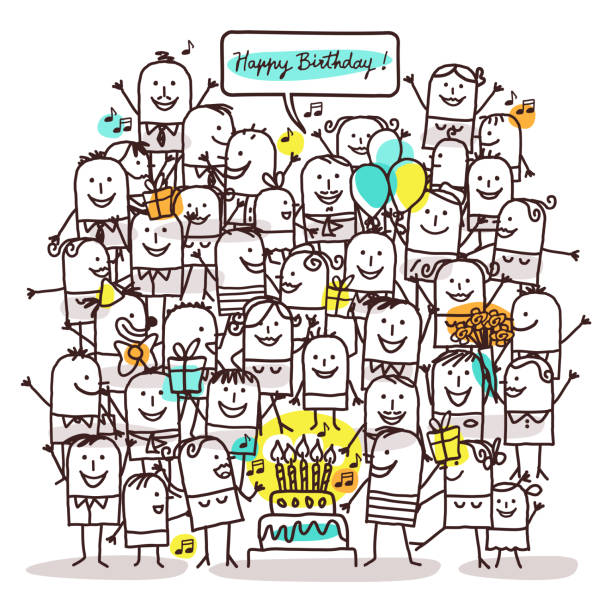 Best Drawing Of The Funny Birthday For A Man Illustrations, Royalty.
