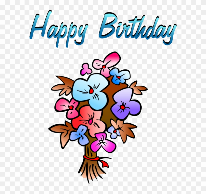 Birthday Flowers Vector Clip Art.