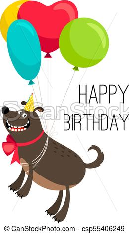 Happy birthday dog card.