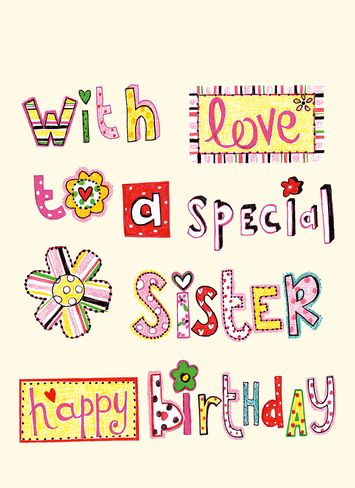 Happy Birthday Sister Clipart.