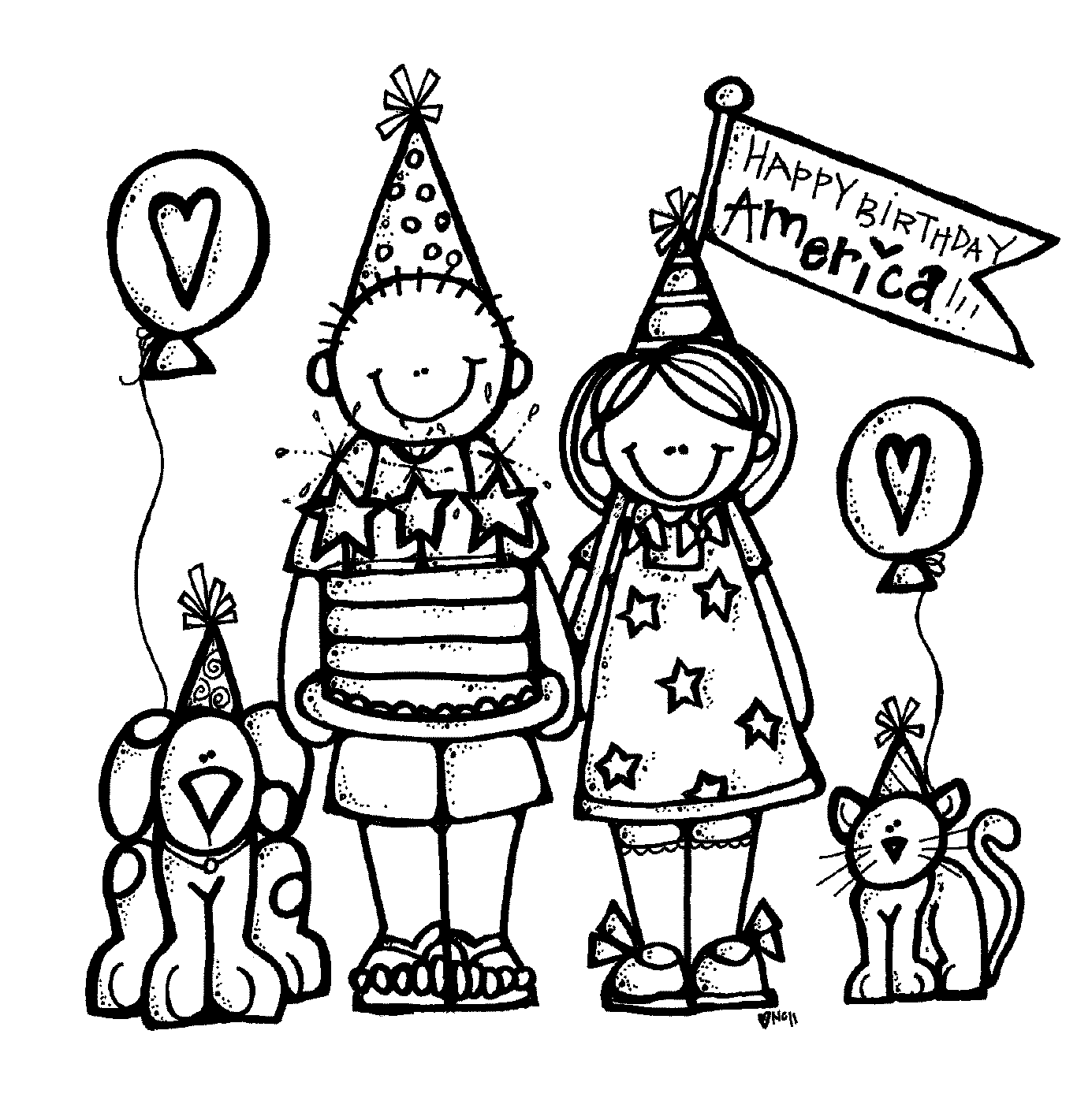 Black And White Birthday Clipart.