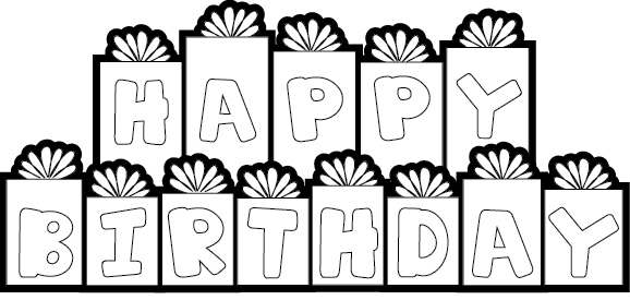 Happy Birthday Clipart Black And White Free Download.