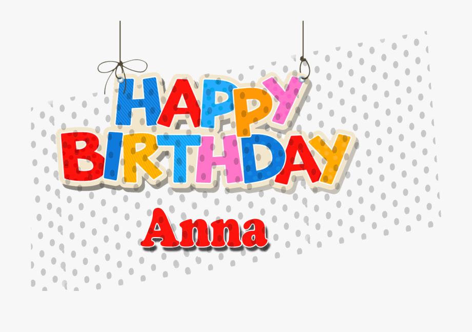 Happy Birthday Clipart Anna.
