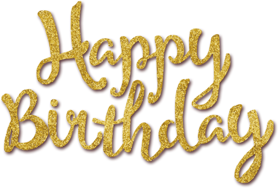 GOLDEN HAPPY BIRTHDAY TEXT CLIPART FREE.