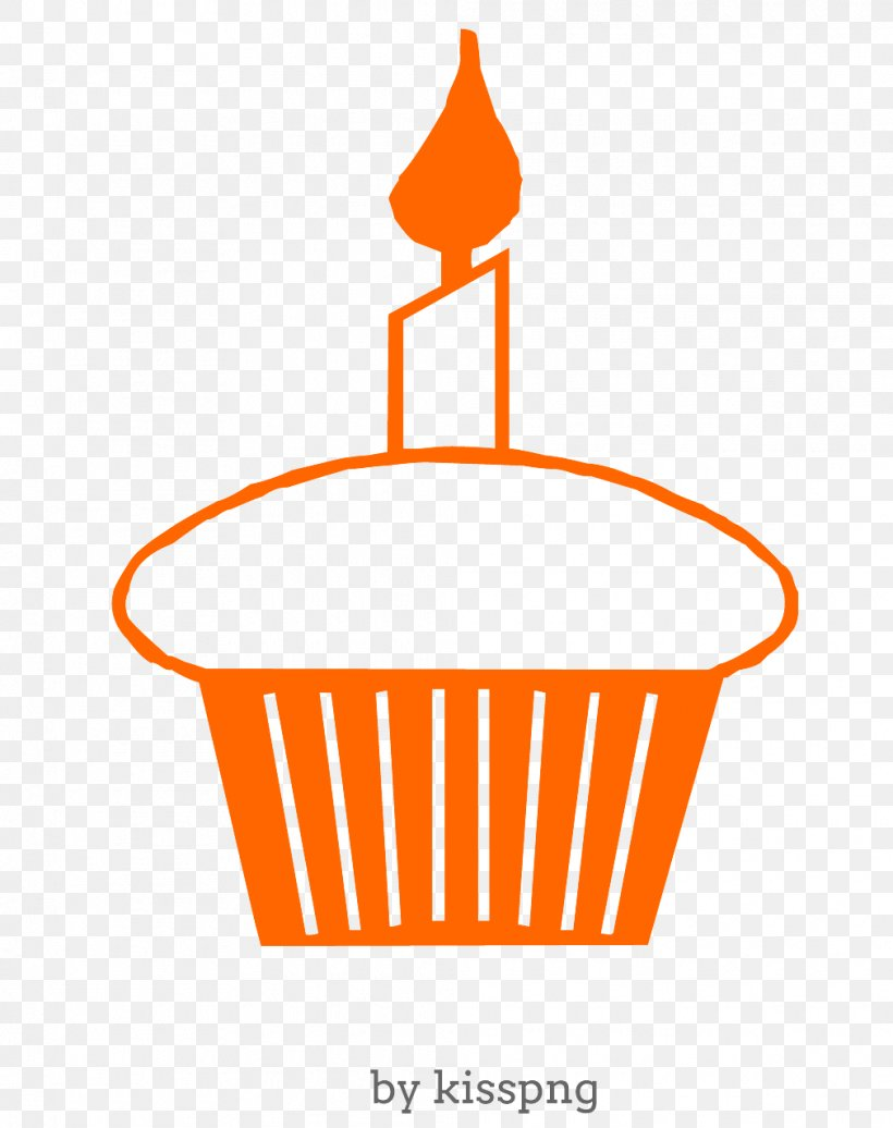 Happy Birthday Cupcake Transparent Clipart., PNG.