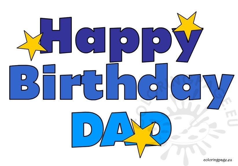 Happy Birthday Dad clipart.