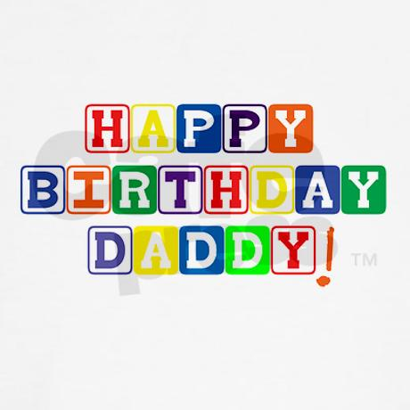 Birthday Daddy Colorful Text Graphic.