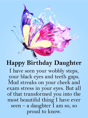 To my Beautiful Daughter.