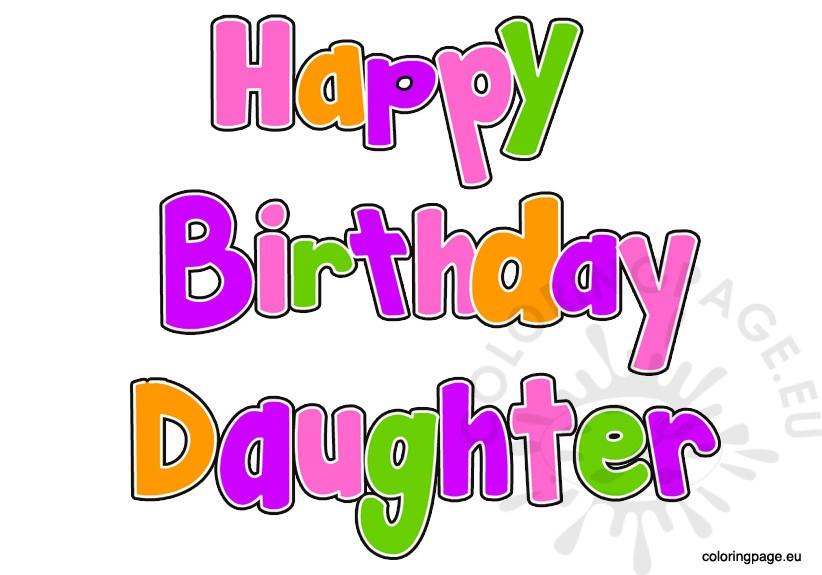 Happy Birthday Daughter Clipart.