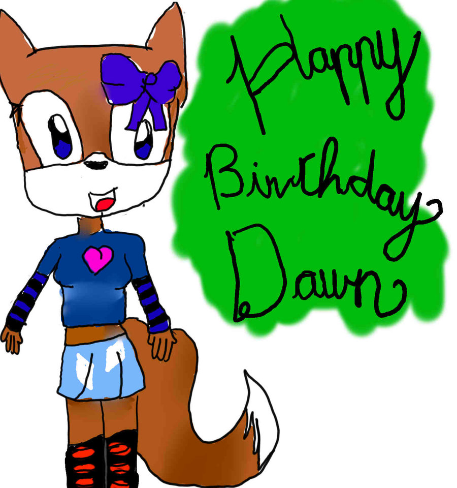 Happy Birthday Dawn by McEScribbles on DeviantArt.