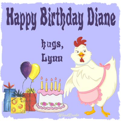 Happy Birthday Diane.