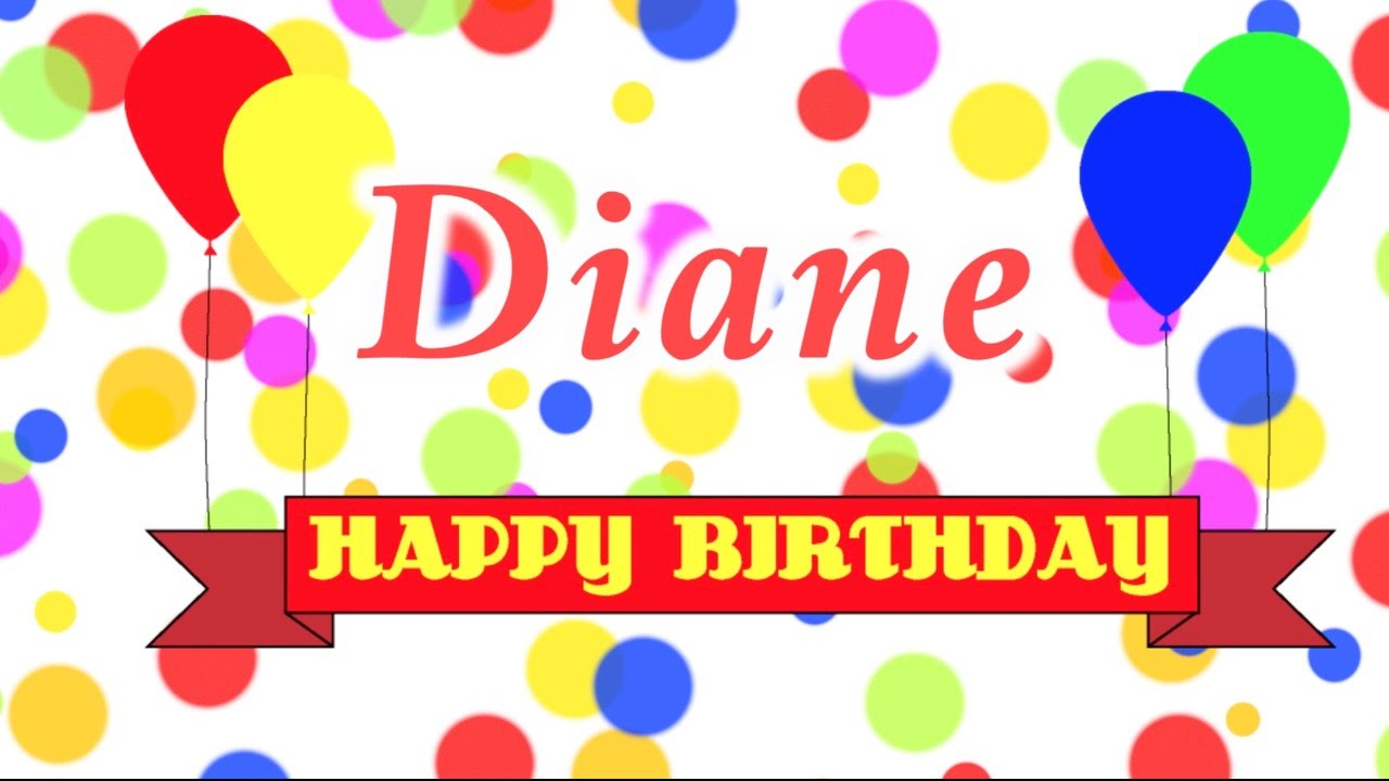 Happy Birthday Diane Song.