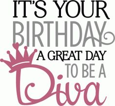 Happy Birthday Diva Clipart.