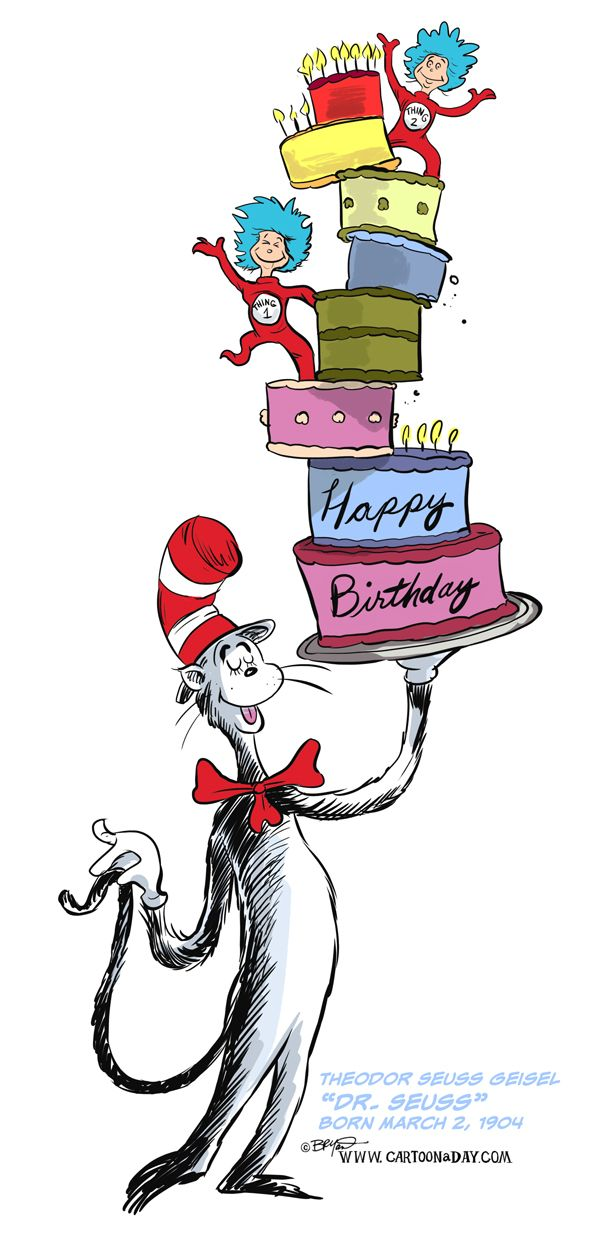 Image result for happy birthday dr seuss.