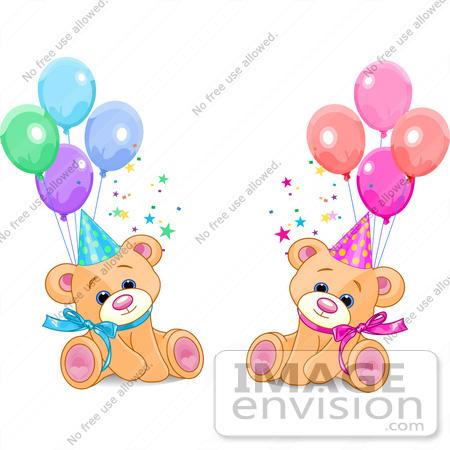 Happy Birthday Twins Clipart.