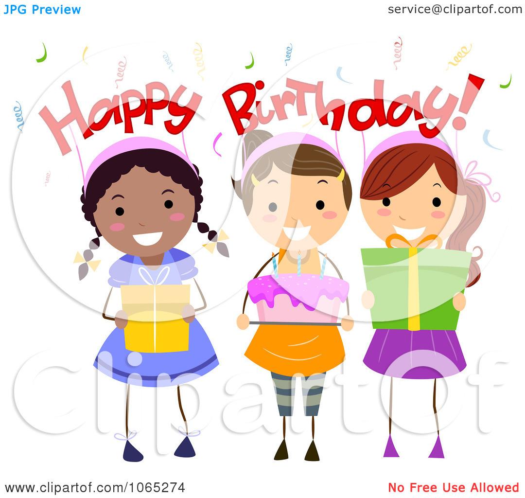 Happy Birthday Female Clipart.