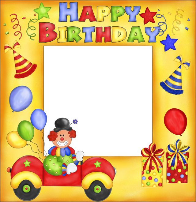 happy birthday frame clipart - Clipground