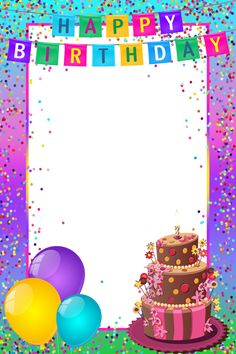 Happy Birthday Frame Clipart Png.