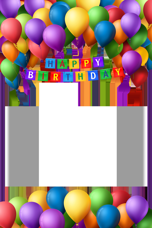 Happy Birthday Transparent PNG Frame.
