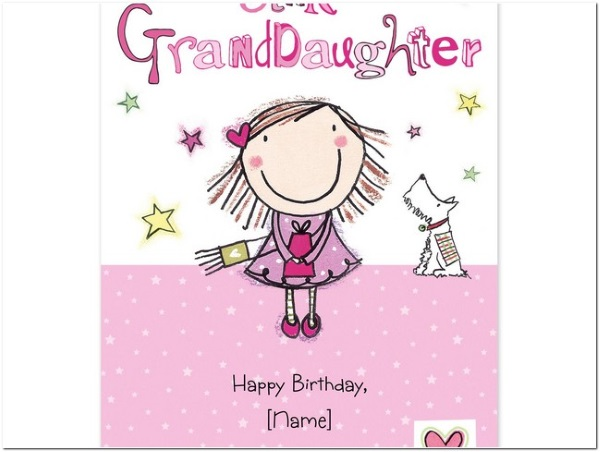 Happy Birthday, Granddaughter.