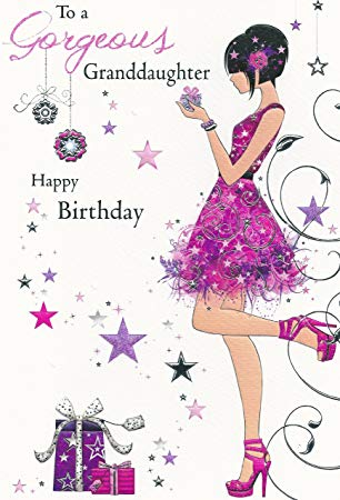 To A Gorgeous Granddaughter Happy Birthday Card (JJ8542.