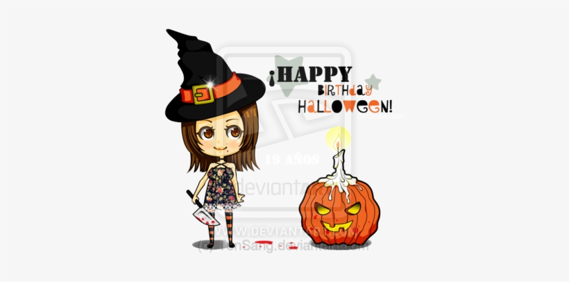 Happy Birthday Halloween Clipart.