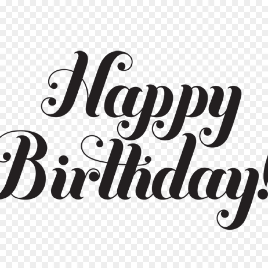 Happy Birthday Black And White png download.