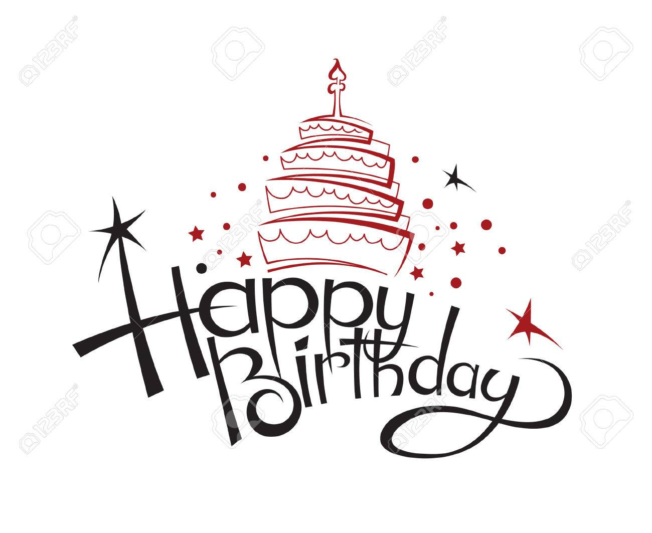 Happy Birthday Design Clipart.