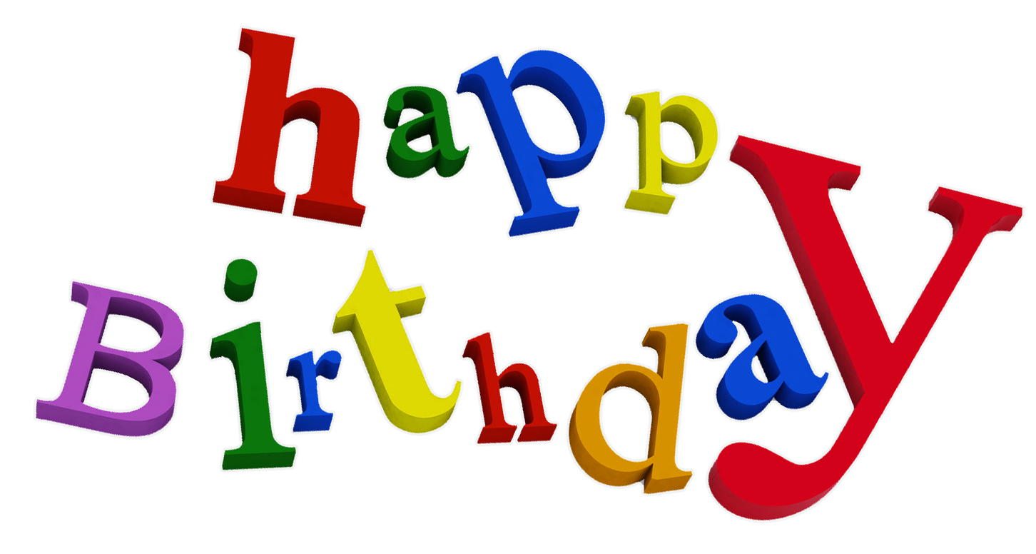Happy Birthday Transparent PNG Backgrounds, Free Clip Art.