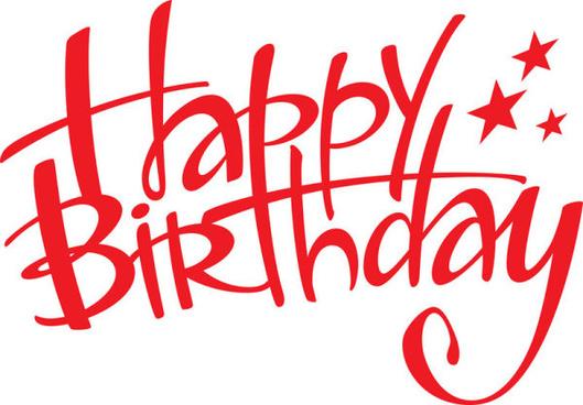 Happy birthday logo elements free vector download (104,115.