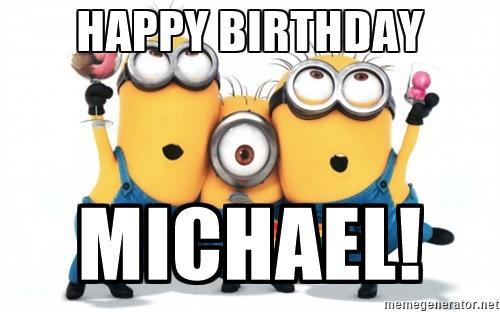 Showing post & media for Cartoon happy birthday michael.
