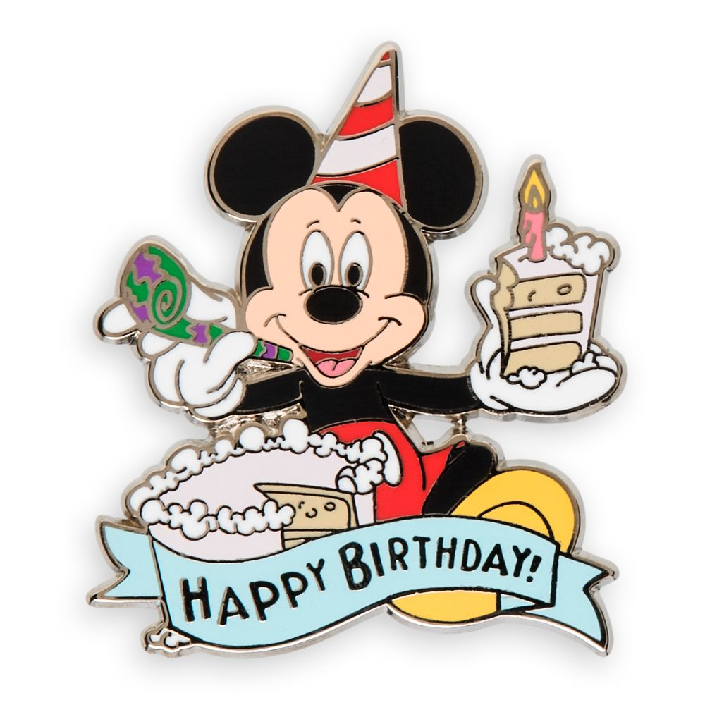 Mickey Mouse Happy Birthday Pin.