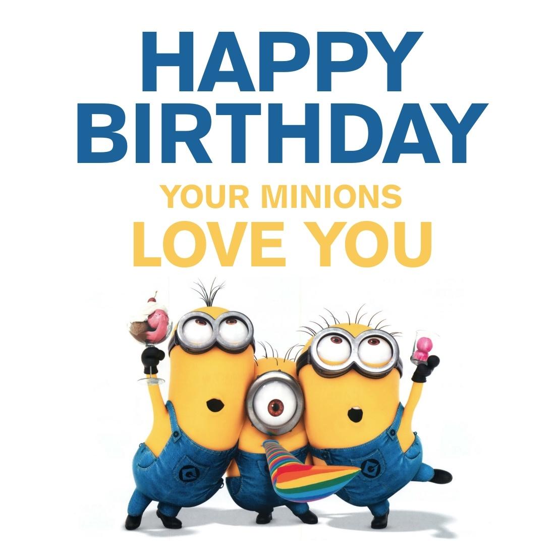 Happy Birthday Minion Clipart.