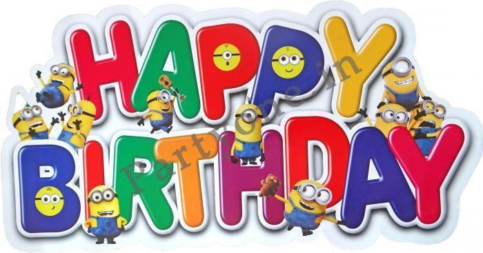 Minion happy birthday clipart.