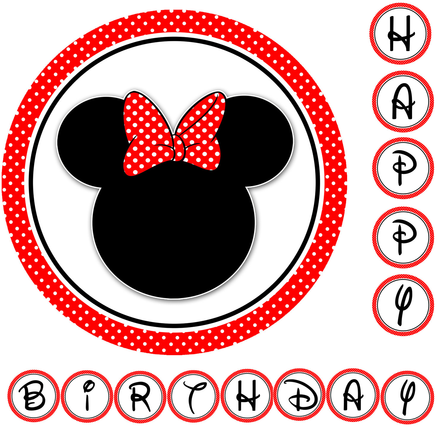 Minnie Mouse Birthday Clipart Free.