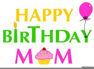 Happy Birthday Mother Clipart.