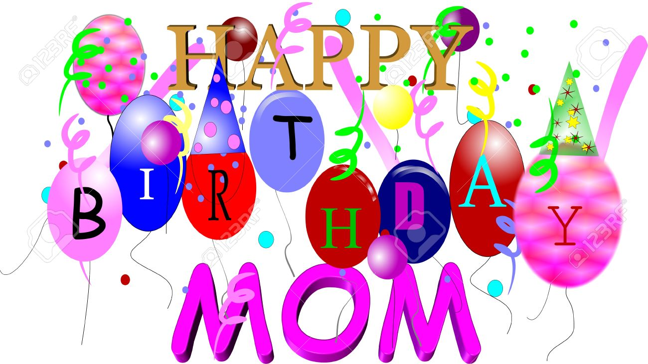 Happy birthday mom clipart 4 » Clipart Station.