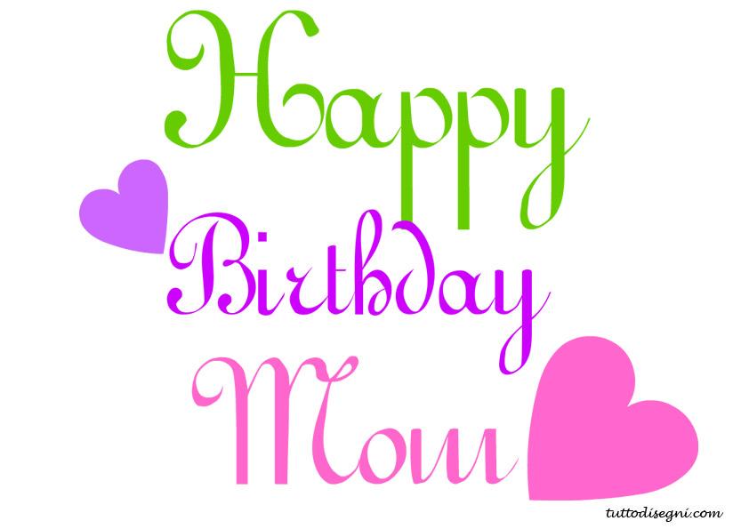 Happy Birthday Mom Clipart.