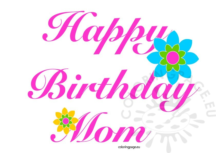 Happy Birthday Mom Clipart Free.