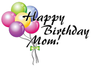Happy Birthday Mom Clipart.