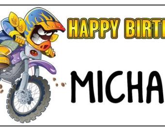 Happy birthday motorcycle clipart.